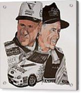 Mark Martin Race Car Driver Acrylic Print