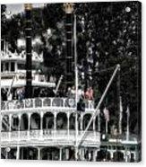 Mark Twain Riverboat Frontierland Disneyland Vertical Sc Acrylic Print