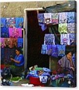 Market At Santiago Atitlan Guatemala Acrylic Print