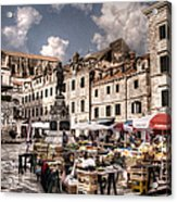 Market Day In The White City Acrylic Print