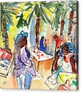 Market In Teguise In Lanzarote 03 Acrylic Print