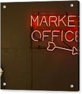 Market Office To The Right Acrylic Print