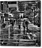 Market Square In The Rain - Knoxville Tennessee Acrylic Print
