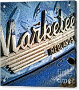 Marketeer Acrylic Print by Pam Vick