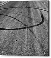 Marks In Our Road  Acrylic Print