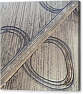 Marks On The Ground Aerial Photography Acrylic Print