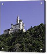 Marksburg Castle 24 Squared Acrylic Print