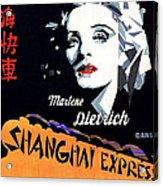 Marlene Dietrich Art Deco French Poster Shanghai Express 1932-2012 Acrylic Print