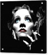Marlene Dietrich Portrait Acrylic Print