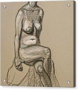 Marli - Seated Nude Acrylic Print