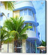 Marlin Hotel Side View Acrylic Print