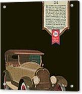 Marmon 34  - Vintage Poster Acrylic Print