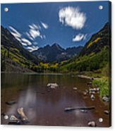 Maroon Bells At Night Acrylic Print