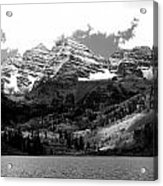 Maroon Bells In Black And White Acrylic Print