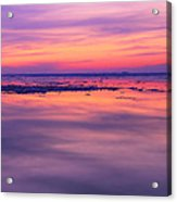 Marquette Sunset On Ice Acrylic Print