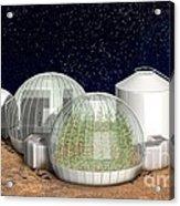 Mars Base, Artwork Acrylic Print