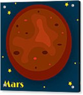 Mars Acrylic Print by Christy Beckwith
