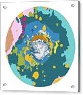 Mars North Polar Map Acrylic Print
