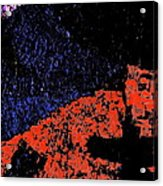Mars Red Mountain Acrylic Print