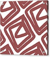 Marsala Envelopes- Abstract Pattern Acrylic Print
