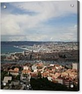Marseille View From Cathedral Notre Dame De La Garde Acrylic Print