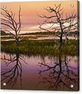 Marsh Oil Painting Acrylic Print