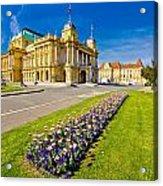 Marshal Tito Square In Zagreb Acrylic Print