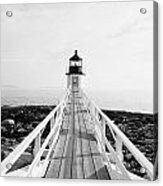 Marshall Point Approach - Black And White Acrylic Print