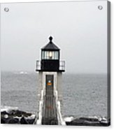 Marshall Point Light On A Foggy Day Acrylic Print