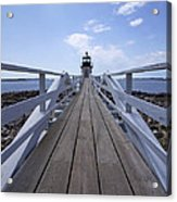 Marshall Point Lighthouse And Walkway Acrylic Print