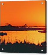 Marshland At Dusk, Bayou Country, Route Acrylic Print