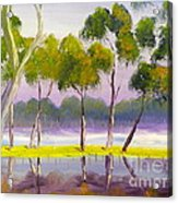 Marshlands Murray River Red River Gums Acrylic Print