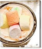 Marshmallow Peach Yogurt Parfait Acrylic Print