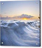 Marshmallow Tide Acrylic Print