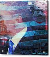 Martin And Obama Acrylic Print