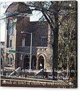 Martin Luther King Jr. And Sixteenth Street Baptist Church Acrylic Print