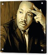 Martin Luther King Jr Artwork Acrylic Print by Sheraz A