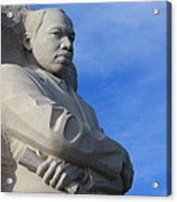 Martin Luther King Jr Monument Detail Acrylic Print
