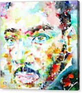 Martin Luther King Jr. - Watercolor Portrait Acrylic Print