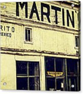 Martins General Store Acrylic Print