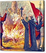 Martyrdom Of Ridley And Latimer, 1555 Acrylic Print