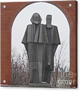 Marx And Engels Acrylic Print