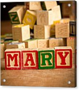 Mary - Alphabet Blocks Acrylic Print