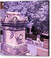Mary And John Tyler Memorial Near Infrared Lavender And Pink Acrylic Print