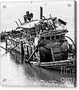 Mary D Hume Shipwreck - Rogue River Oregon Acrylic Print