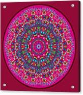 Mary Grace Mandala Acrylic Print
