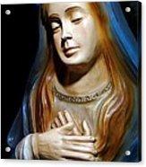 Mary In Manger Acrylic Print