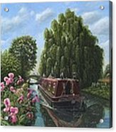 Mary Jane Chesterfield Canal Nottinghamshire Acrylic Print