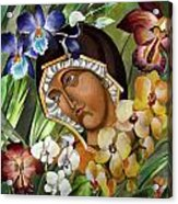 Mary Of The Orchids  Acrylic Print