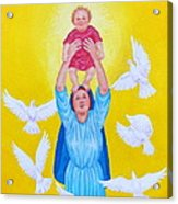 Mary Offers Her Child Jesus To His Father Acrylic Print
